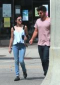 Lucy Hale spotted with Anthony Kalabretta grabbing Coffee from Starbucks in Studio City