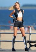 Martha Hunt on a Victoria Secret Shoot in Coney Island, New York