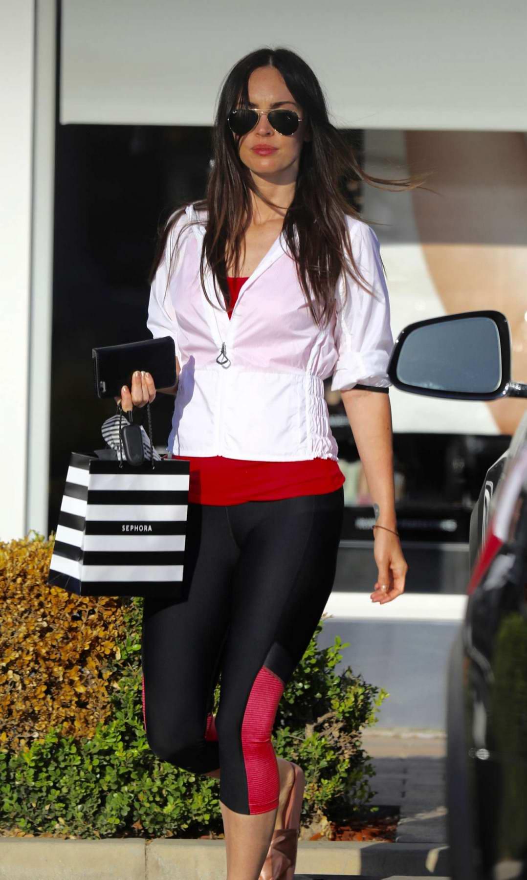 Megan Fox leaving a Cosmetic Store in Malibu