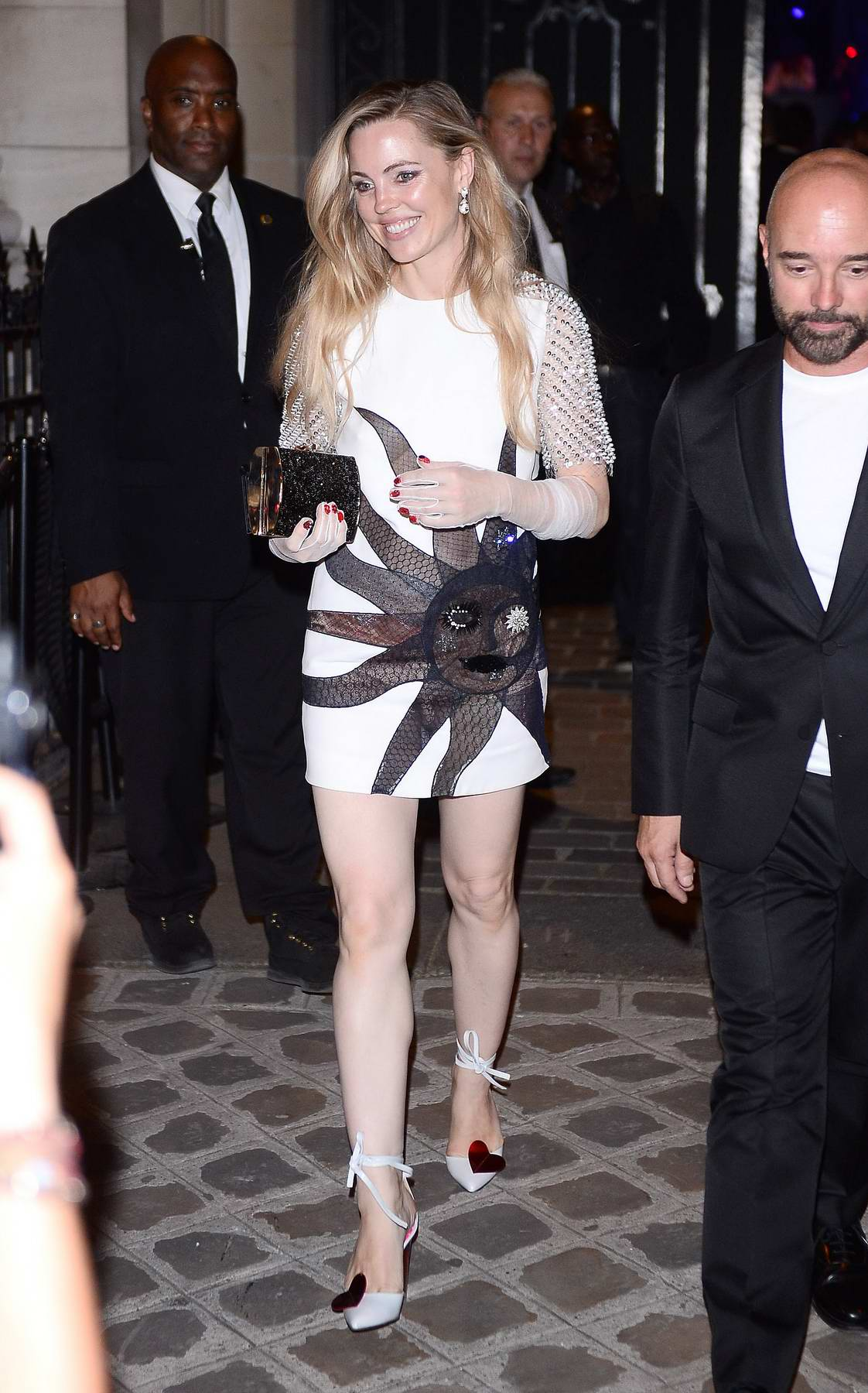 Melissa George at Vogue Party at Musee Galliera at Paris Fashion Week in Paris, France