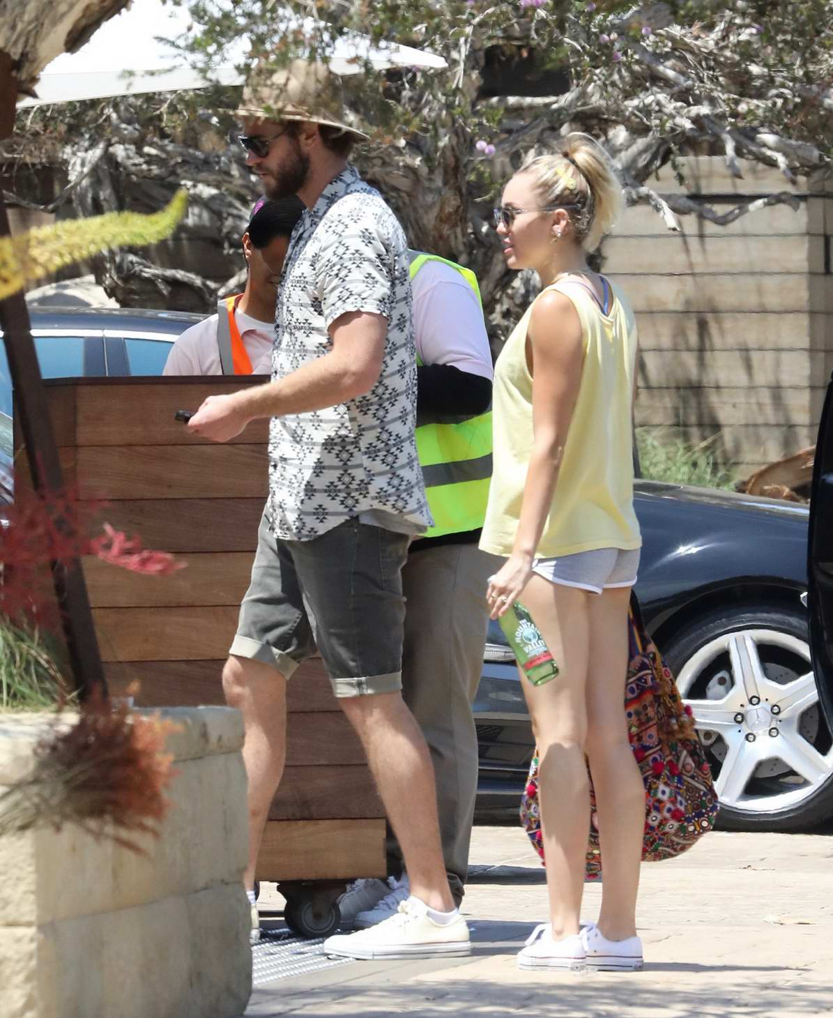 Miley Cyrus and Liam Hemsworth spotted at Soho House in Malibu