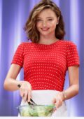 Miranda Kerr in a Red Polka Dot Dress at Marukome Event in Tokyo