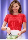 Miranda Kerr in a Red Polka Dot Dress at Marukome Event in Tokyo