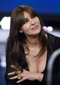 Monica Bellucci appears on the Spanish Television in Madrid, Spain