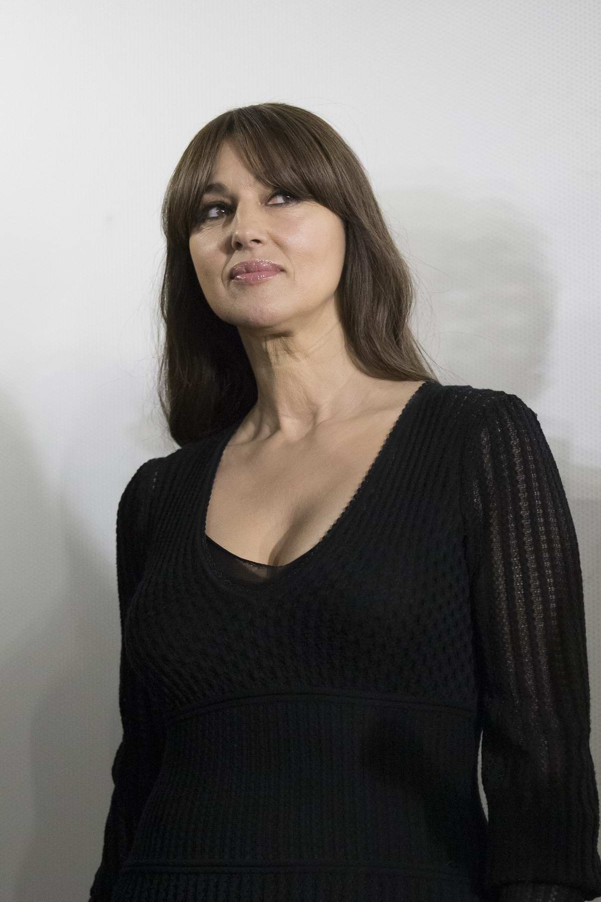 Monica Bellucci attends a Fan Meet during the Presentation of her new film On The Milky Road in Madrid, Spain