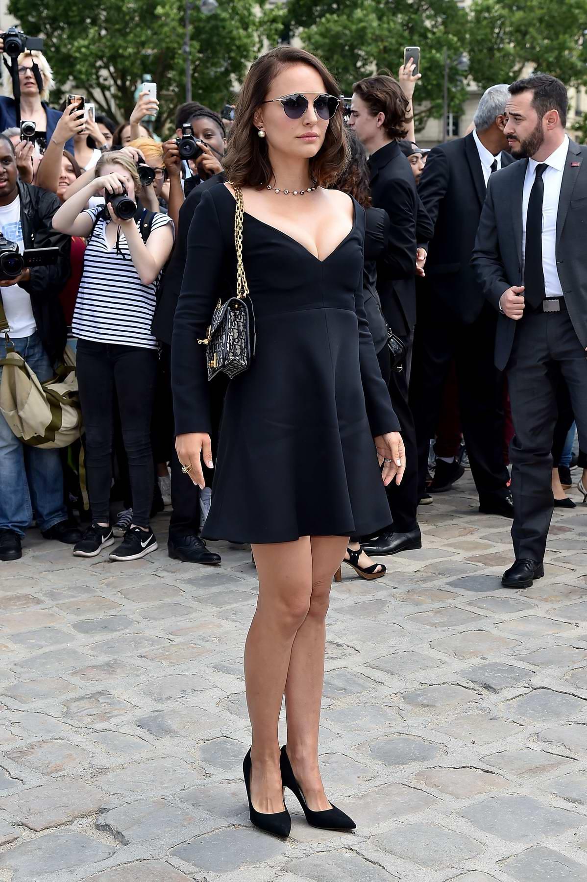 Natalie Portman at Christian Dior Haute Couture Fall/Winter 2017-2018 show at Haute Couture Paris Fashion Week in Paris