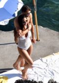 Nicole Scherzinger and boyfriend Grigor Dimitrov pictured while on vacation in Capri, Italy
