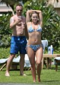 Ola Jordan in Bikini enjoying by the Poolside in Dubai