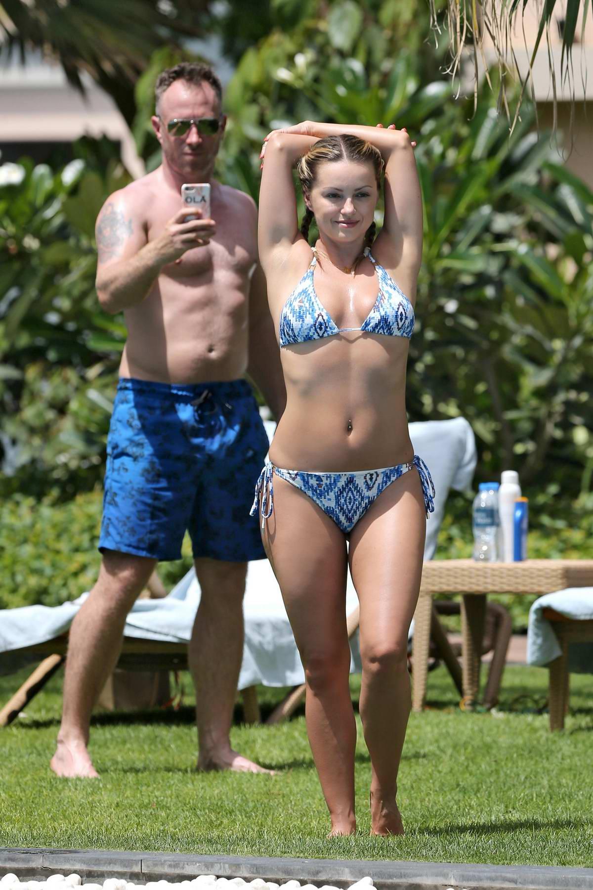 Ola Jordan in Bikini enjoying by the Poolside in Dubai