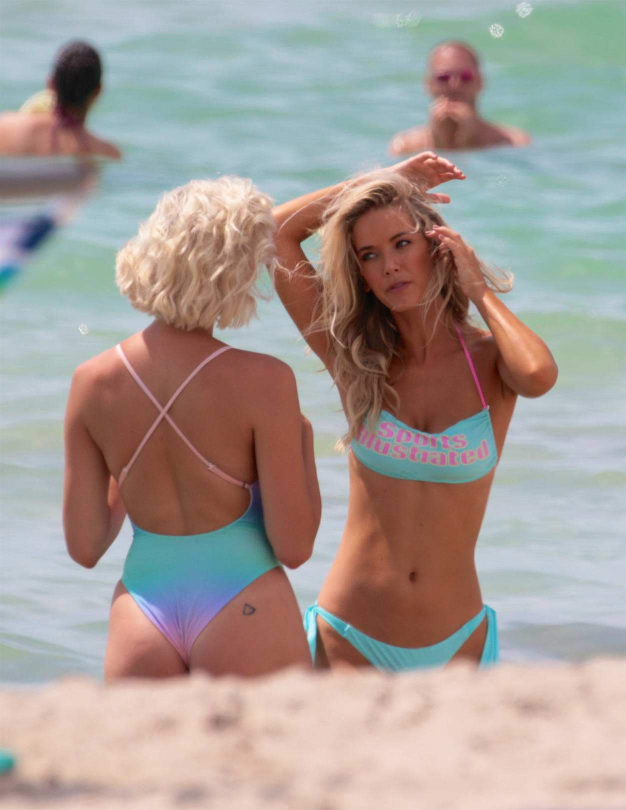 Olivia Jordan in a Bikini spotted at a Photoshoot for Sports Illustrated in Miami