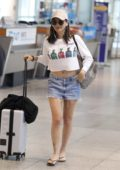 Olivia Munn spotted arriving at the Montreal Airport in Canada