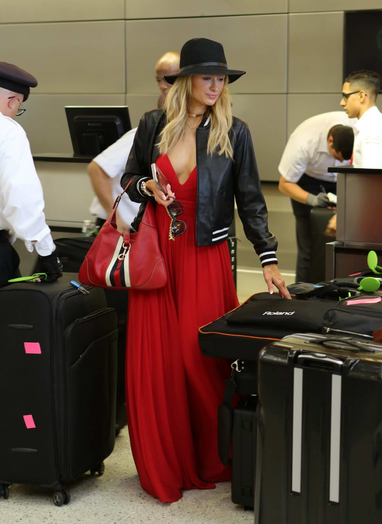 Paris Hilton and Chris Zylka leaves LAX for Ibiza for a Summer Holiday