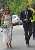 Pippa Middleton arriving for the Men's Final of the Wimbledon 2017 in London