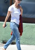 Rachel Bilson dressed Casual while out for Lunch in Beverly Hills