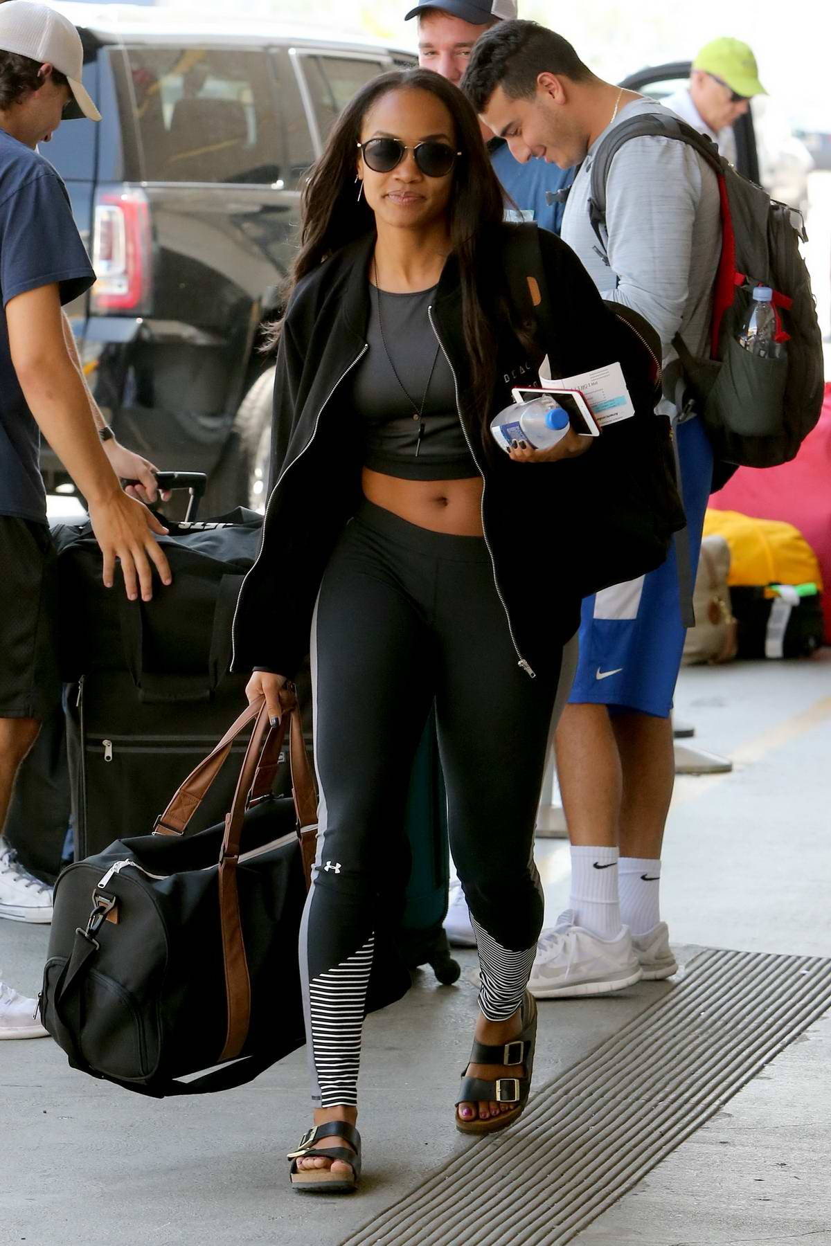 Rachel Lindsay jets out of LAX after filming the 'Men Tell All' episode of the Bachelorette in Los Angeles
