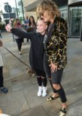 Rita Ora seen posing for Selfies with Fans as she leaves Media City Pitch Battle Recording in Manchester, UK