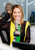 Rita Ora visits On Air with Ryan Seacrest in New York