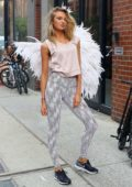 Romee Strijd ahead of a Victoria Secret Photoshoot at the Milk Studios in New York