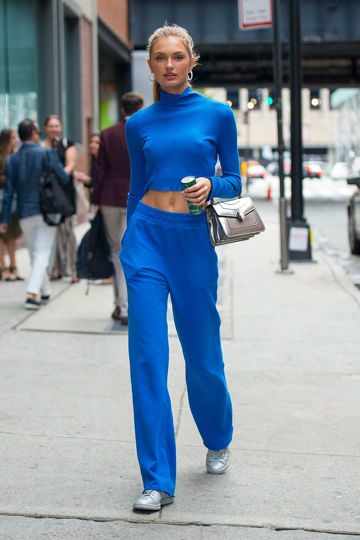 Romee Strijd in All Blue spotted out in Chelsea in New York