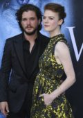 Rose Leslie and Kit Harington at HBO's Game of Thrones Season 7 Premiere in Los Angeles