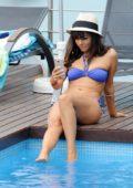 Rxanne Pallett in a Bikini relaxing by the Poolside in Mykonos, Greece