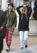 Sofia Boutella and boyfriend Robert Sheehan spotted arriving in Toronto, Canada