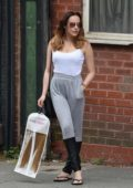 Stephanie Davis visit a Hair Salon in Liverpool, UK