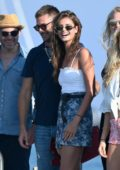 Taylor Hill spotted on a Holiday with her boyfriend at Club 55 in Saint-Tropez, France