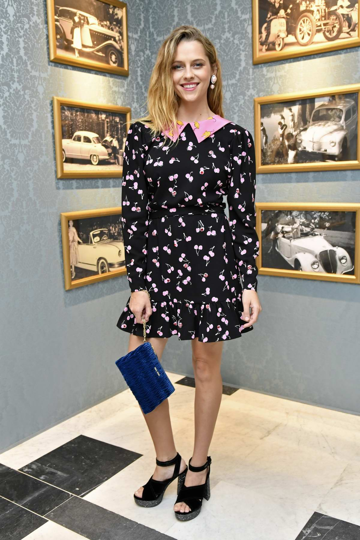 Teresa Palmer at Miu Miu Cruise Collection Show as part of Haute Couture Paris Fashion Week in Paris, France