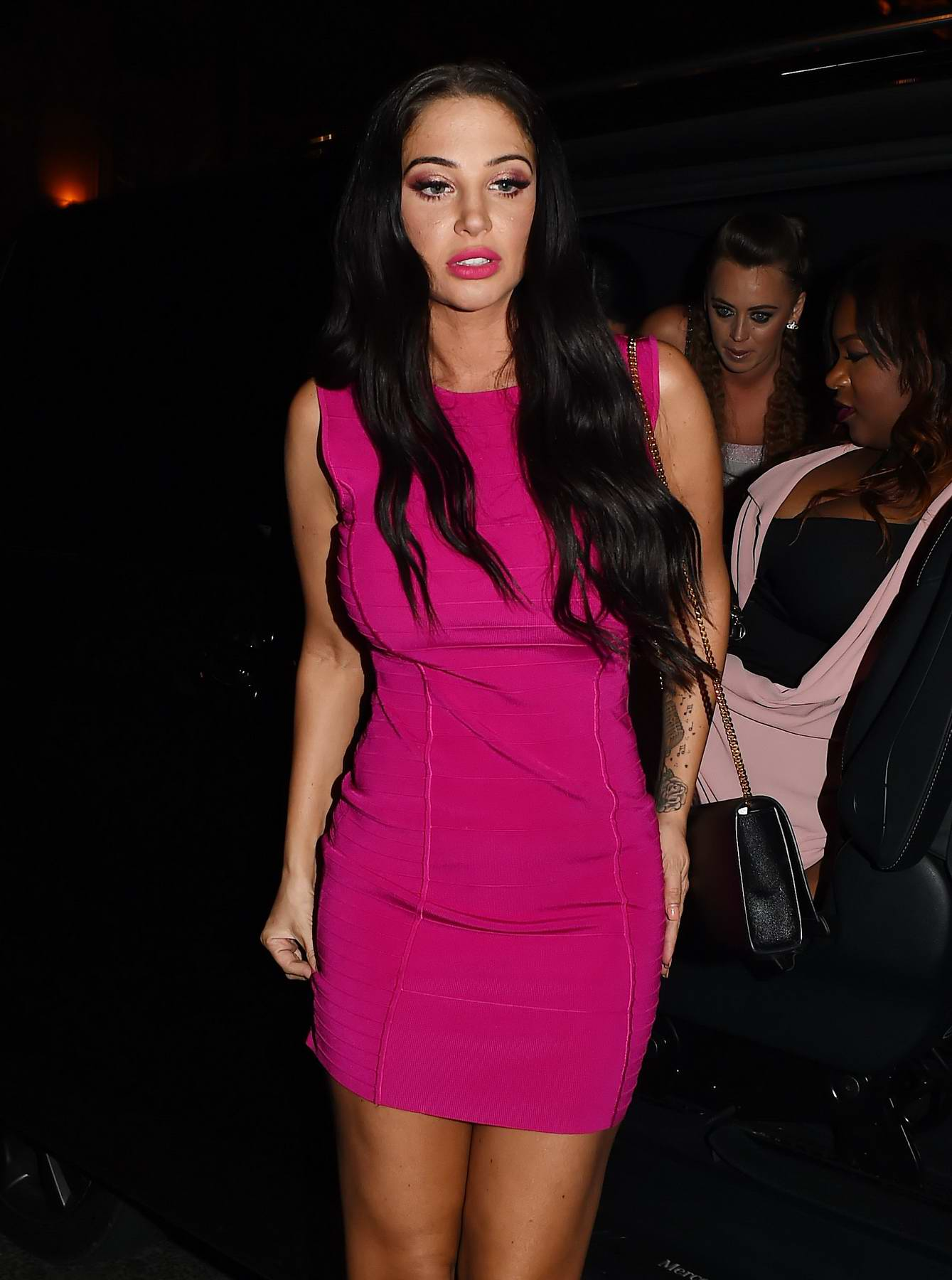 Tulisa Contostavlos arrives at Mahiki in London