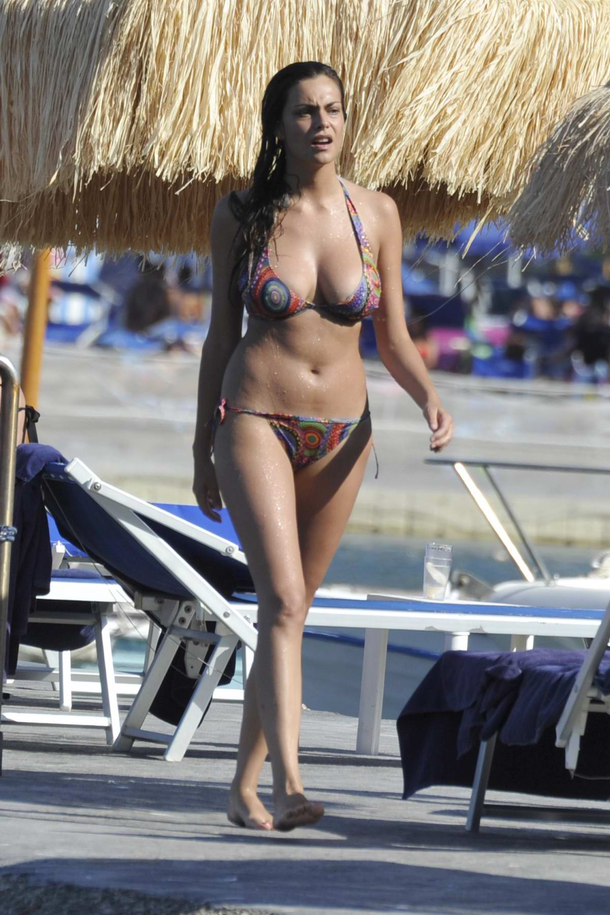 Valentina Maria Reggio in Bikini on the Beach in Ischia, Italy