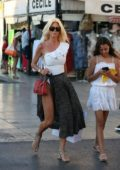 Victoria Silvstedt strolling around while Shopping in Saint-Tropez France