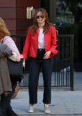 Zoey Deutch and her Mother Lea Thompson walk Home from Breakfast at Banter in Greenwich Village in New York