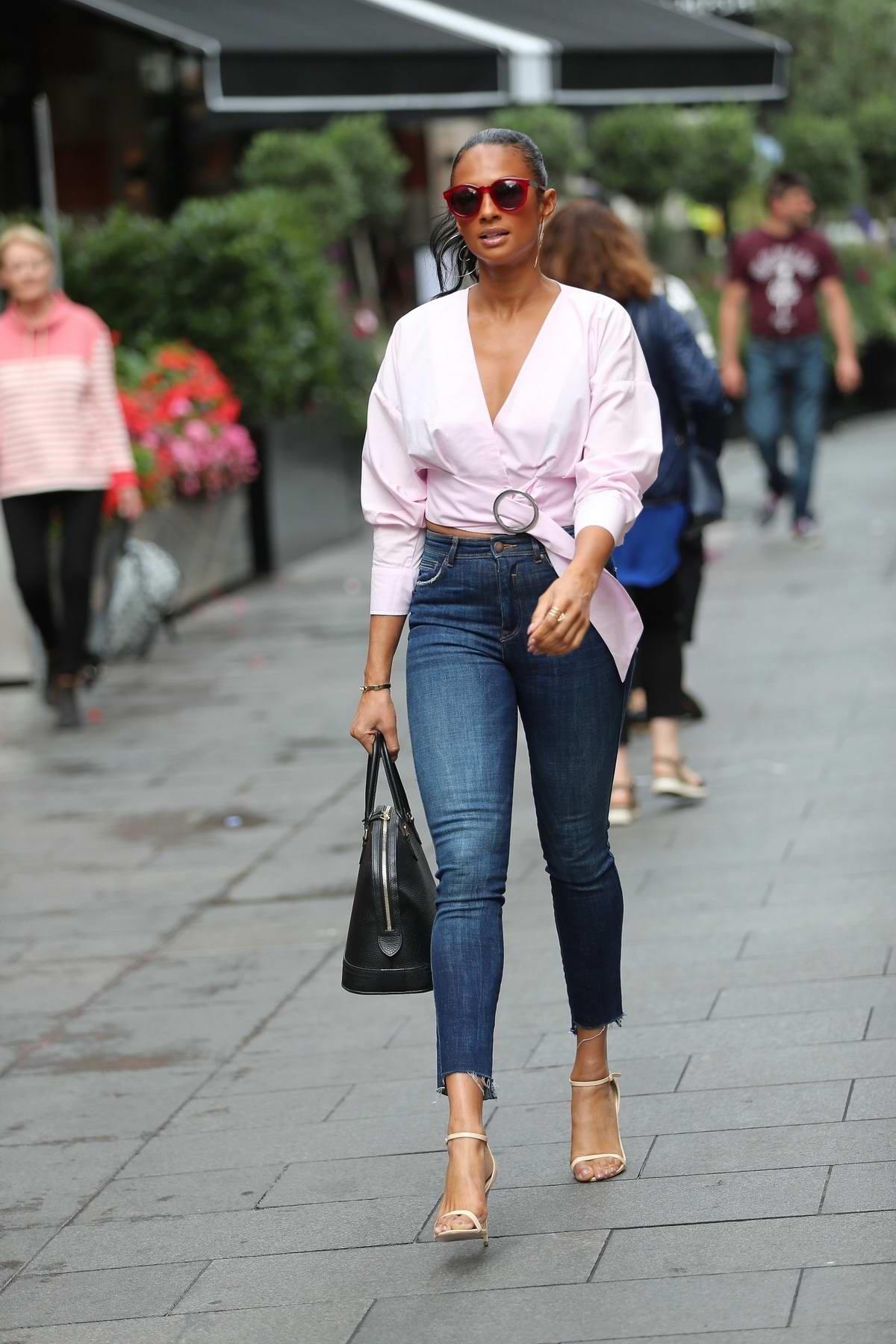 Alesha Dixon leaving the Global Radio in London
