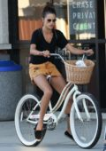 Alessandra Ambrosio enjoys a bike ride in Los Angeles