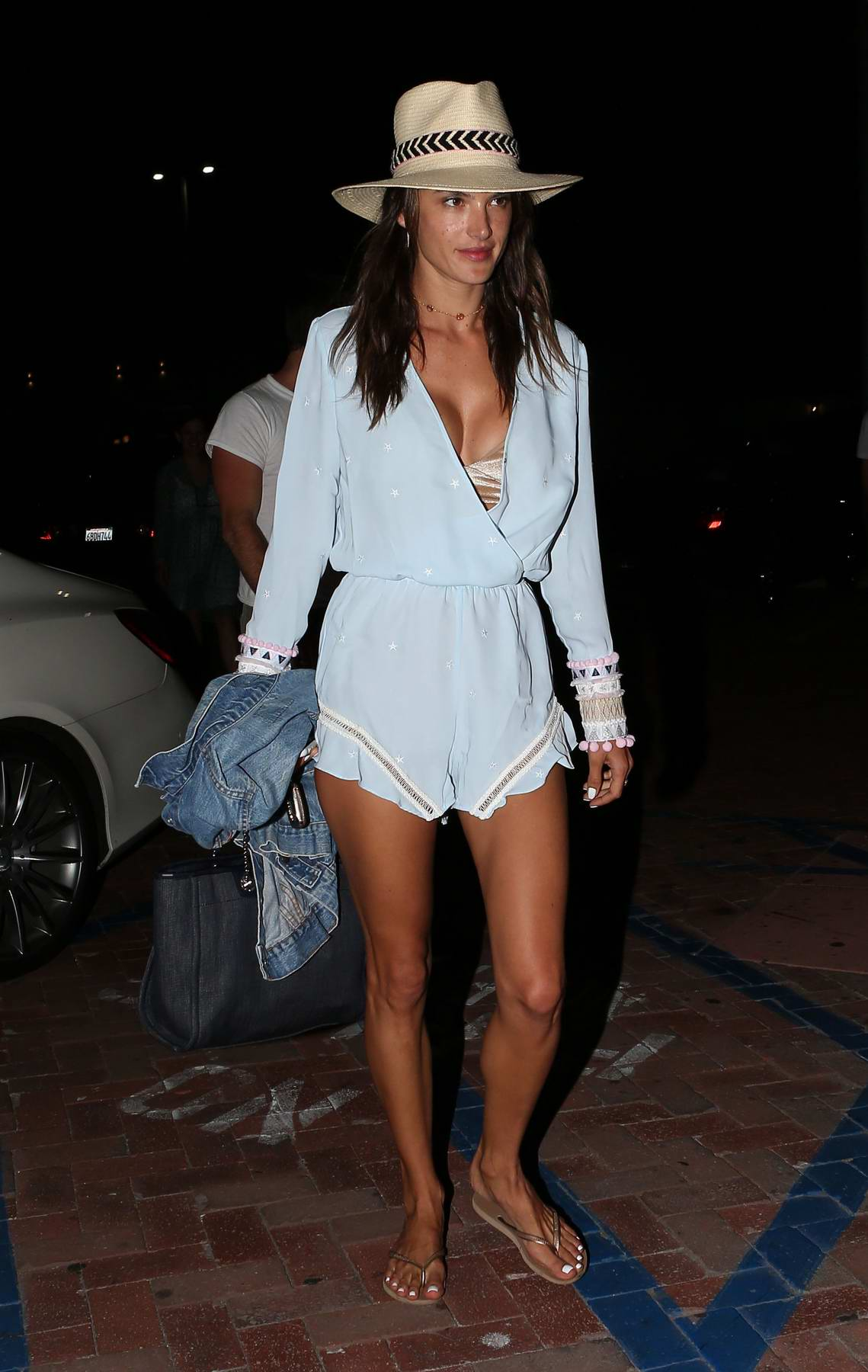 Alessandra Ambrosio out on a family dinner in Malibu