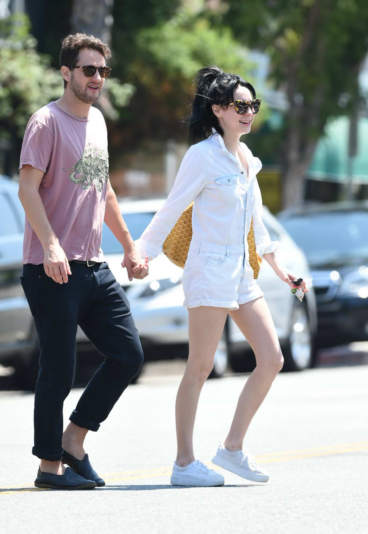 Alessandra Torresani and boyfriend Sturgis Adams out to grab lunch in Los Angeles