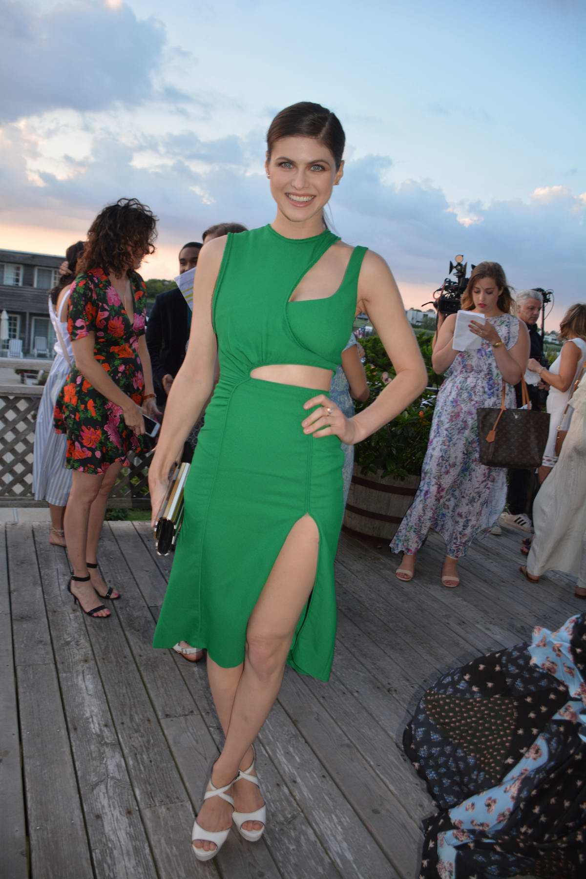 Alexandra Daddario at the Women's Health and FEED's 6th Annual Party in New York
