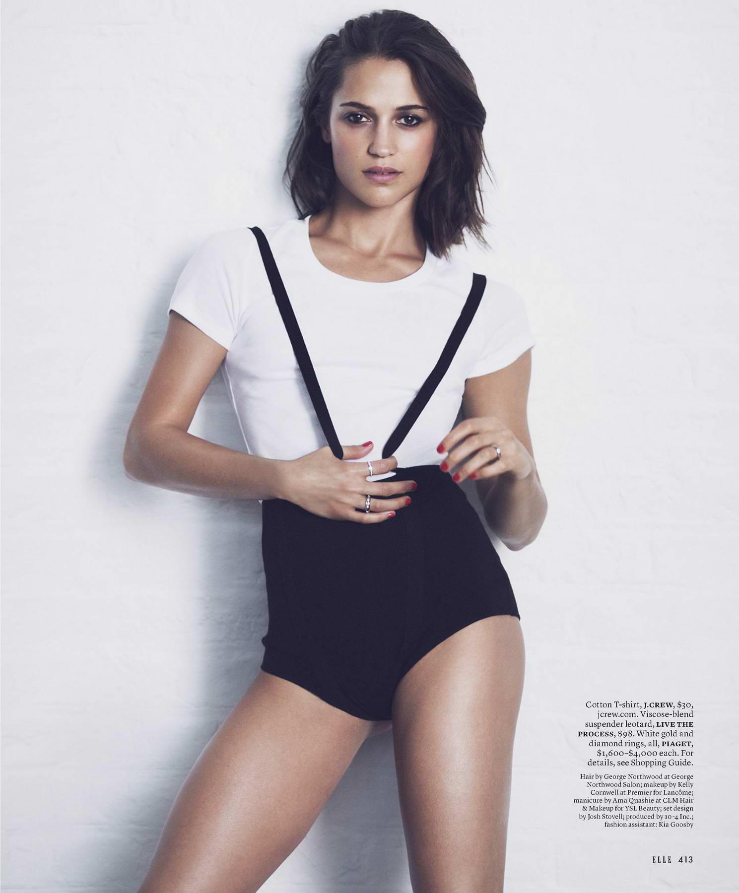 Alicia Vikander for Elle Magazine, US - September 2017