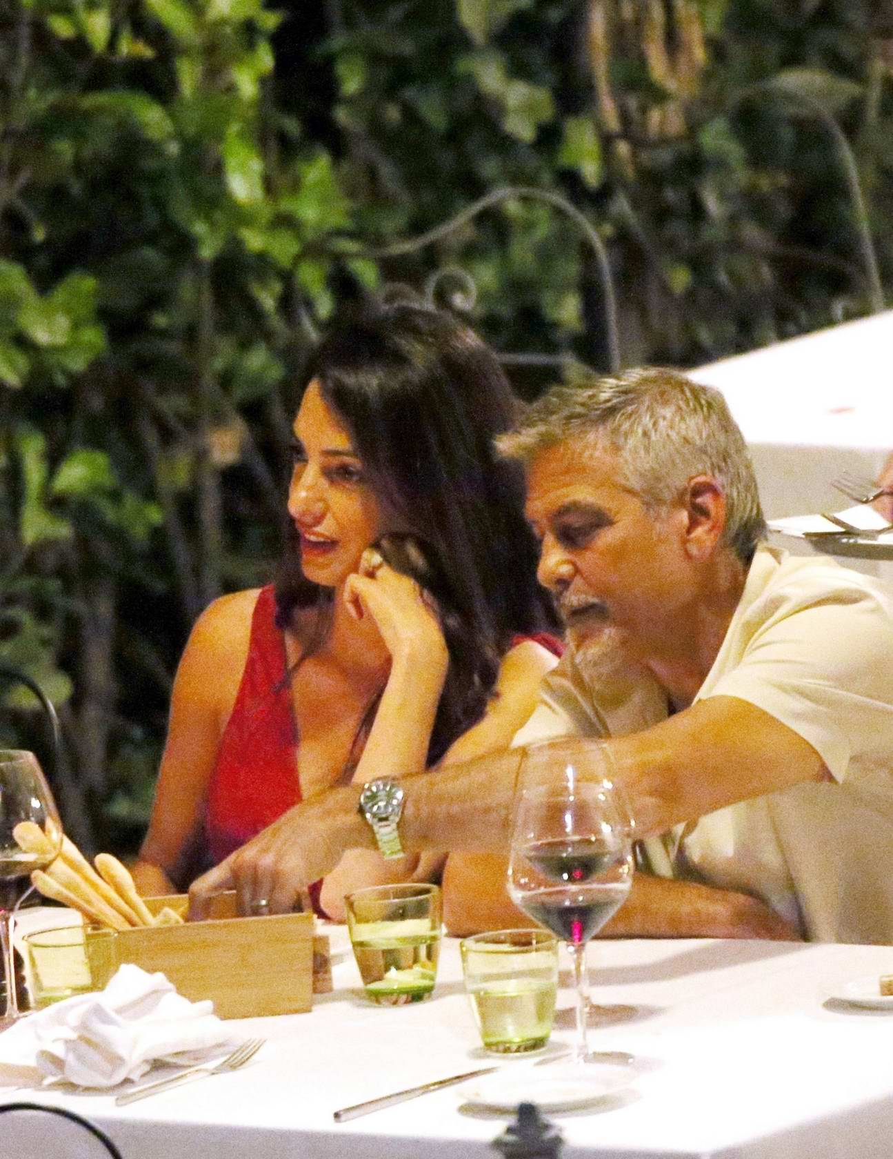 pics Amal clooney and george clooney candlelight dinner at le darsene in bellagio italy