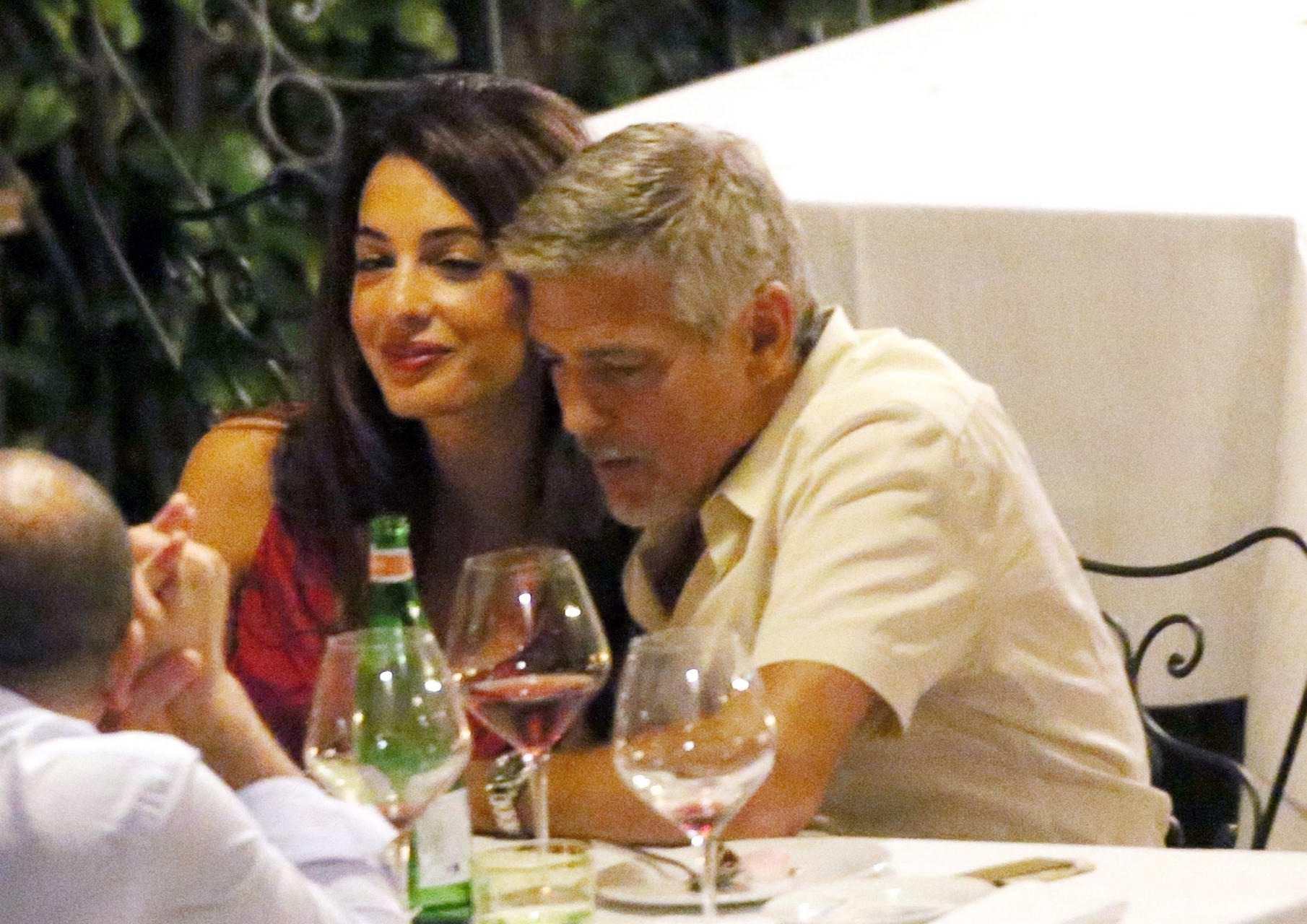 Amal clooney and george clooney candlelight dinner at le darsene in bellagio italy nude (98 photo), Paparazzi Celebrity photos