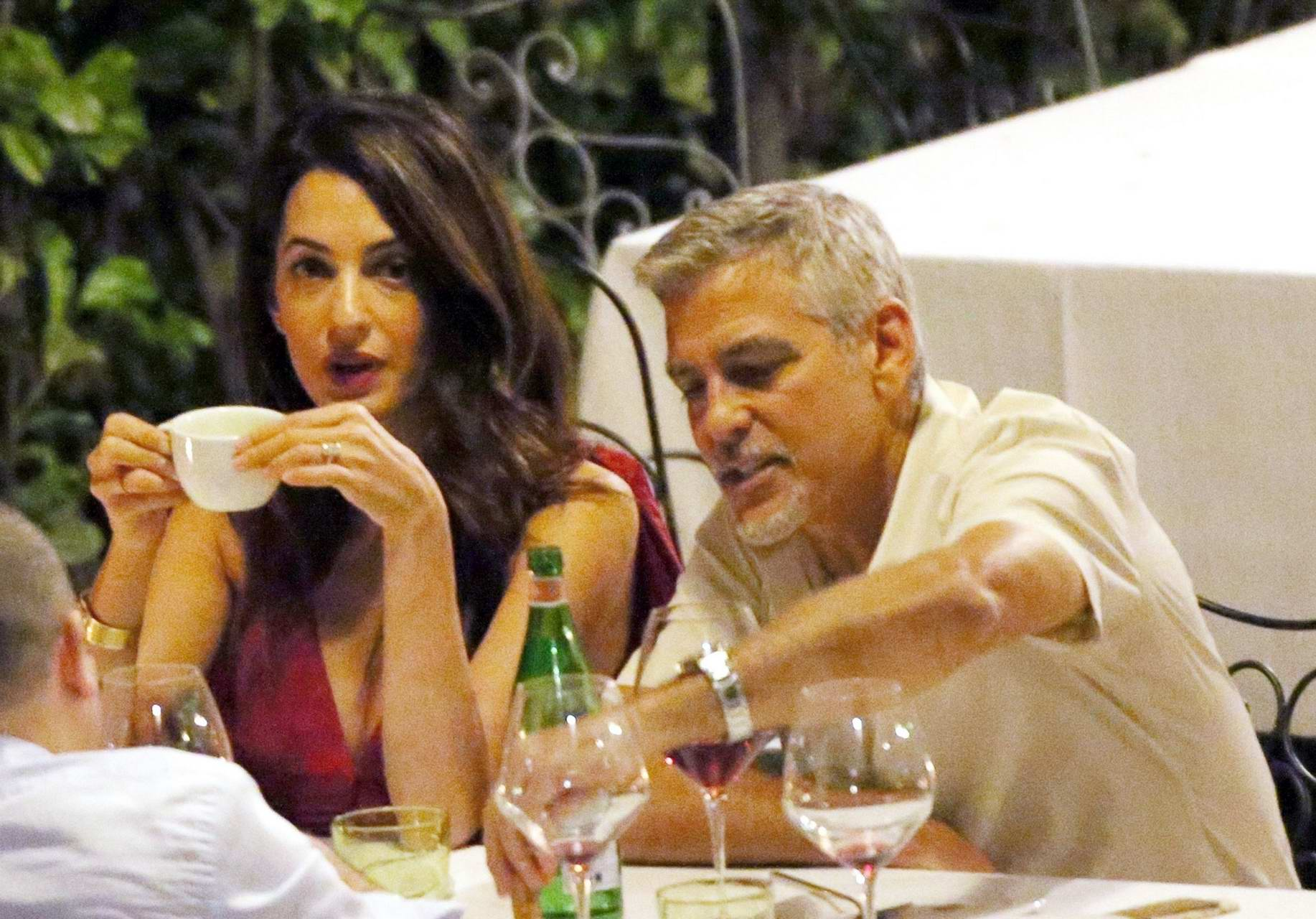 Amal clooney and george clooney candlelight dinner at le darsene in bellagio italy nudes (22 photos)