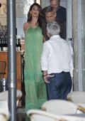 Amal Clooney spotted having dinner with some friends at Harrys Bar in Cernobbio, Lake Como, Italy