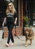 Amanda Seyfried walks her dog in Woodland Hills, California