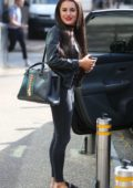 Amber Davies spotted outside ITV studios in London