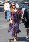 Amy Adams is all smiles as she arrives at a Studio in Burbank, California