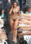 Anitta in bikini shooting a new music video in the Favelas of Rio de Janeiro, Brazil