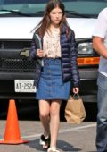 Anna Kendrick on the set of her new movie a 'Simple Favor' in Toronto, Canada