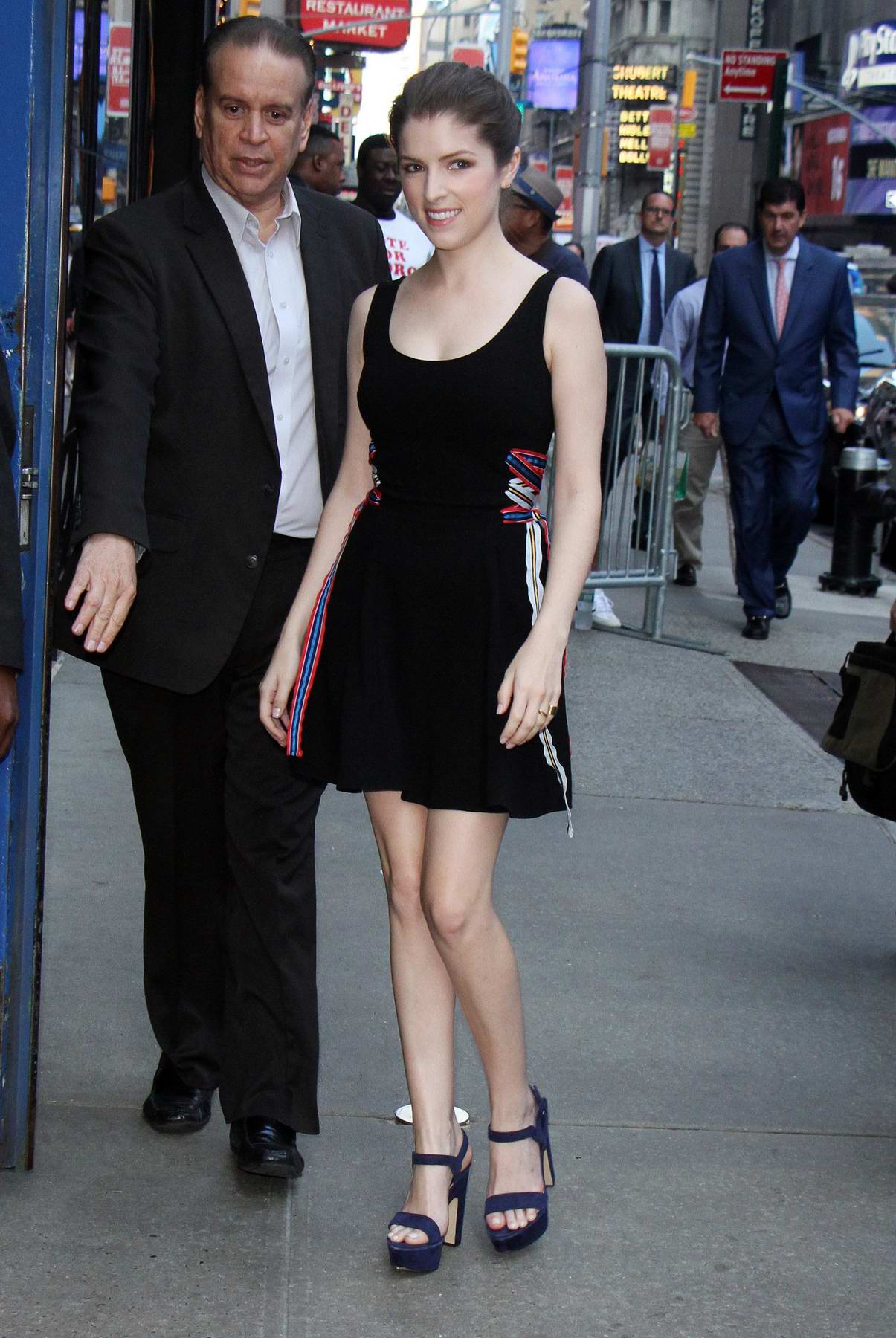 Anna Kendrick visits Good Morning America at Times Square in New York