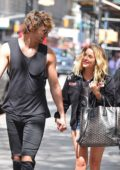 Ashley Benson holds hands with a Mystery man while out in New York